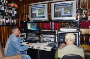 Equipo de realización de CIMEQVisión. Autor: Medios audiovisuales del Cimeq
