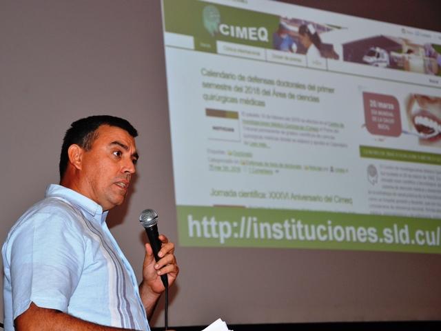 Presentación de la nueva página web del Cimeq