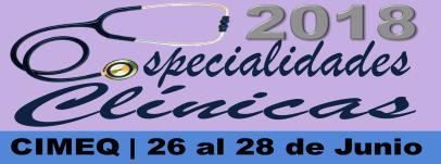 Taller de especialidades clínicas. Cimeq 2018