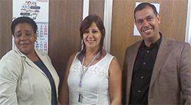 Dra. Miroslaba Dalas Guiber, Dra. Martha Verónica González Álvarez y Dr. Juan Carlos Sotolongo López