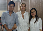 Lei Chen y Xao Chu con su turora la MSc. Ana Mary Fernández Milán