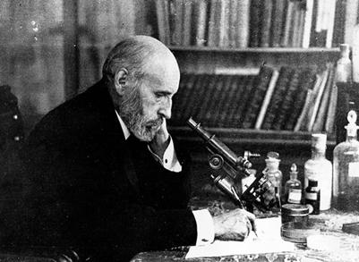 Don Santiago en su despacho tomado de Santiago Ramón y Cajal htm
