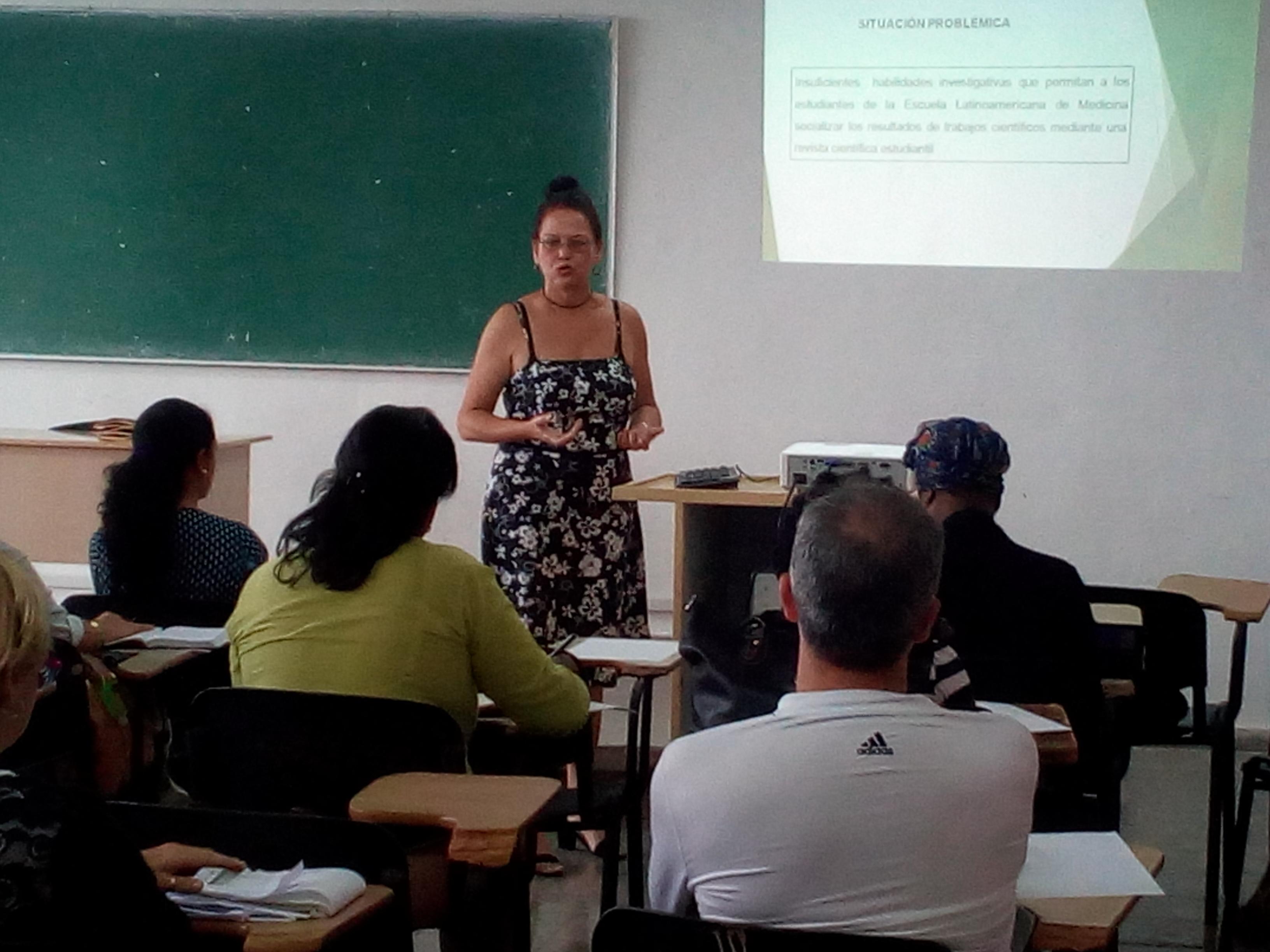 Primer taller de tesis de los Maestrantes en la ELAM