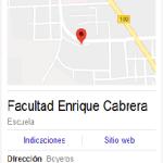 Mapa facultad Enrique Cabrera