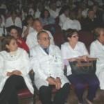 """Los profesores Olga Esther Infante Pedreira, María del Carmen Llantá Abreu y Jorge Amado Grau Abalo recibieron el Sello """"Aniversario 70 de la CTC"""""""