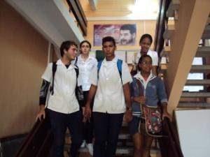 Estudiantes de medicina de la Facultad Comandante Manuel Fajardo