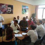 Visita de la UJC Nacional a la Facultad Manuel Fajardo