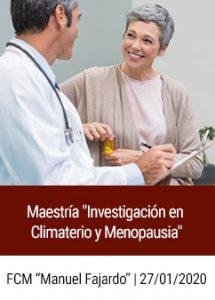Convocatoria a Maestría Investigación en Climaterio y Menopausia