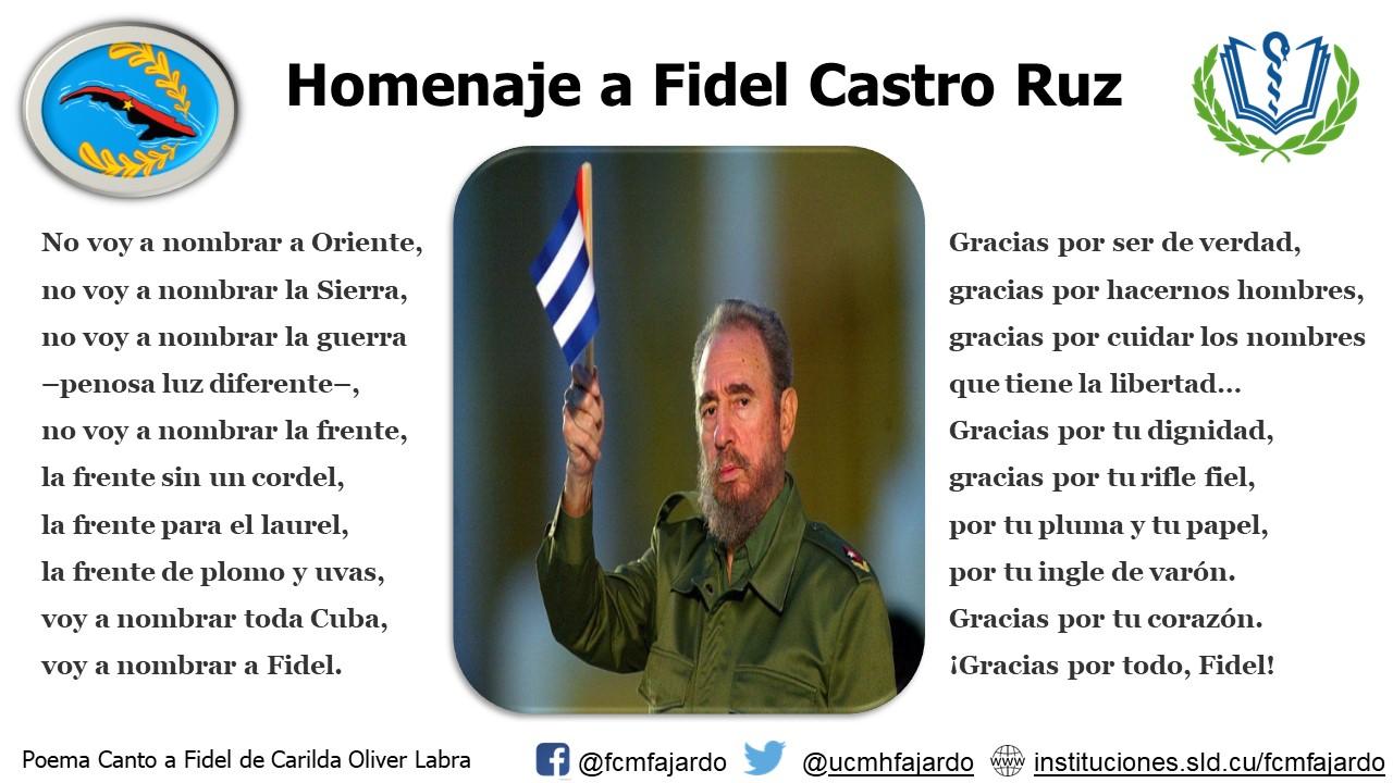 III Aniversario del fallecimiento del invicto Comandante Fidel Castro