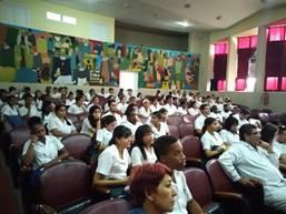 Homenaje a Fidel Castro Ruz en la facultad Manuel Fajardo
