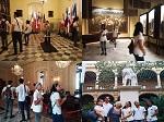 Visita de los estudiantes de medicina de la Facultad Manuel Fajardo al Palacio de los Capitanes Generales, hoy Museo de la Ciudad