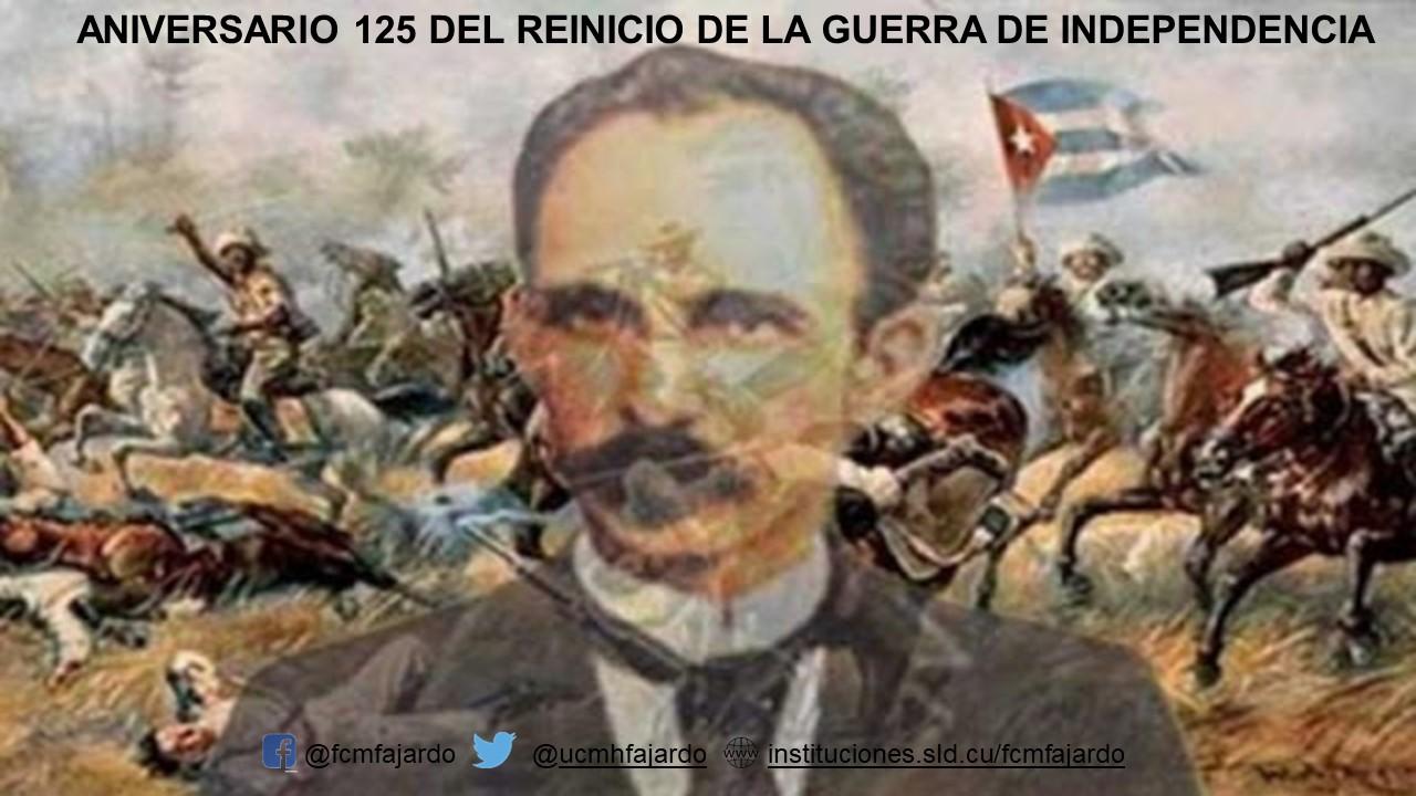 Aniversario 125 de la reanudación de la Guerra por la Independencia