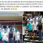 Estudiantes de medicina 5to se incorporan al hospital salvador Allende para atender a los pacientes sospechosos de covid-19