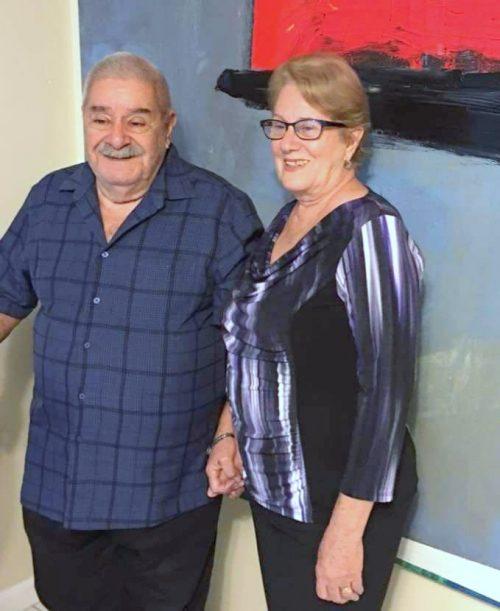 El Prof. Pedro Lino junto a su compañera la Prof. Rita Acosta
