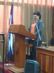 Dra. Ida Santana Perez. Rectora de la UCMVC