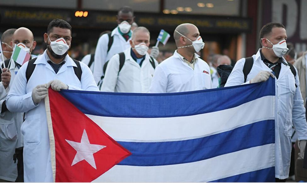 Médicos cubanos frente a la Covid 19